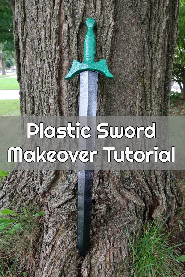 #ad Learn how to give a plastic toy sword a makeover with this tutorial. It'll look awesome for a Halloween costume or pretend play. You can even make a matching cardboard shield using Plasti Dip Craft!