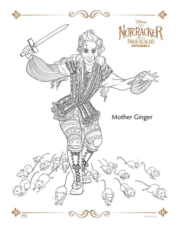 Mother Ginger coloring page from Nutcracker and the Four Realms