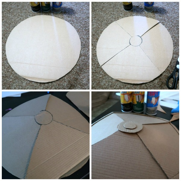 How to make a cardboard shield for pretend play