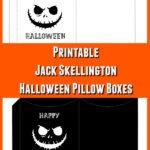 Jack Skellington inspired pillow box printables