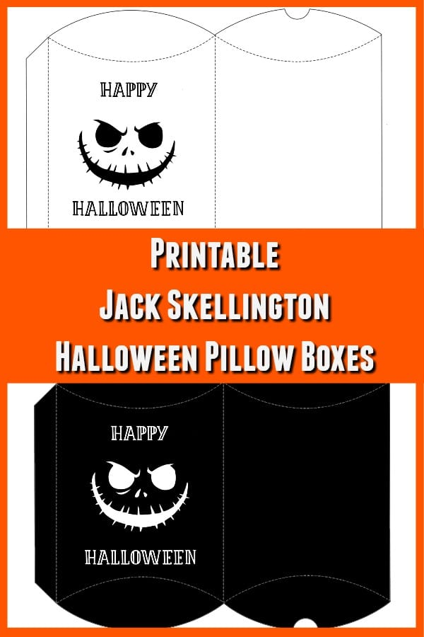 Jack Skellington inspired pillow box printables