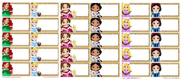 Free Printable Holiday Princess Lunch Box Notes Or Gift Tags