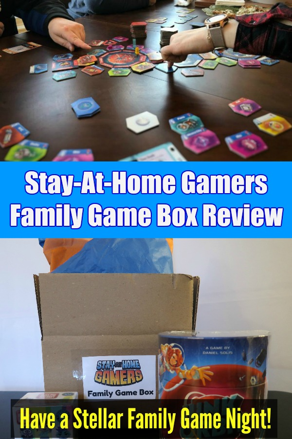 Tired of the same old games on family game night? Want to find new and interesting board games that kids and adults will enjoy? Check out this review of the Stay-At-Home Gamers Family Game Box. It's a quarterly curated subscription box that provides a family board game and a few other fun surprises