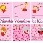 Examples of the square animal valentine cards