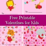 Examples of free printable animal valentines