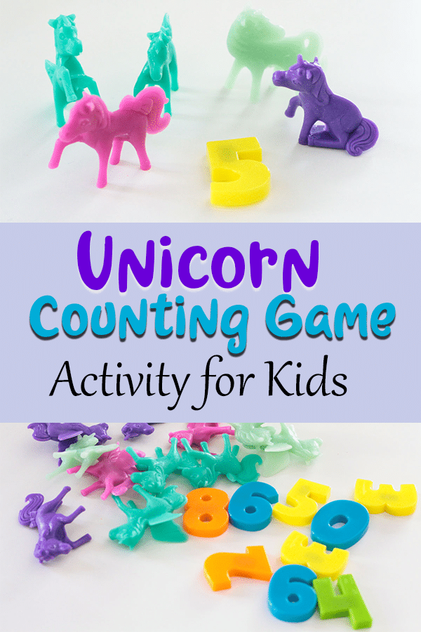 How to use counting unicorns for a fun math activity with kids.