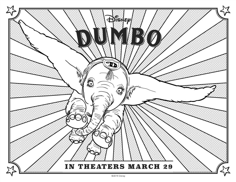 freemovie coloring pages | Free Printable Dumbo Coloring Pages & Activities