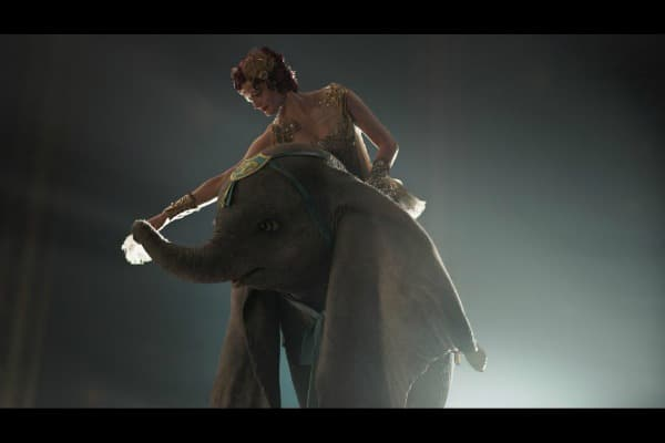 Dumbo with aerial artist, Colette Marchant (Eva Green) from the movie.