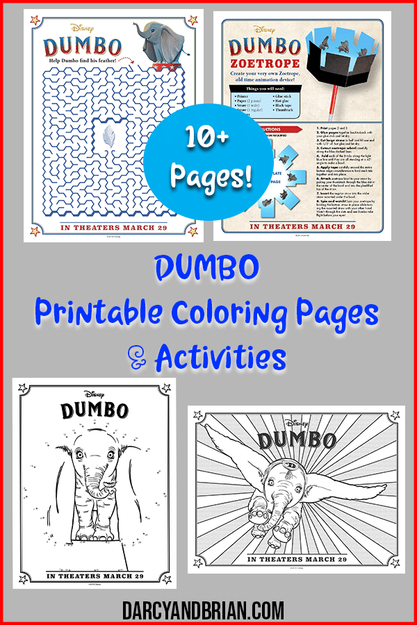 Looking forward to the new Disney live action DUMBO movie? Grab these FREE PRINTABLE activities including DUMBO coloring pages, maze, and other kids activities.