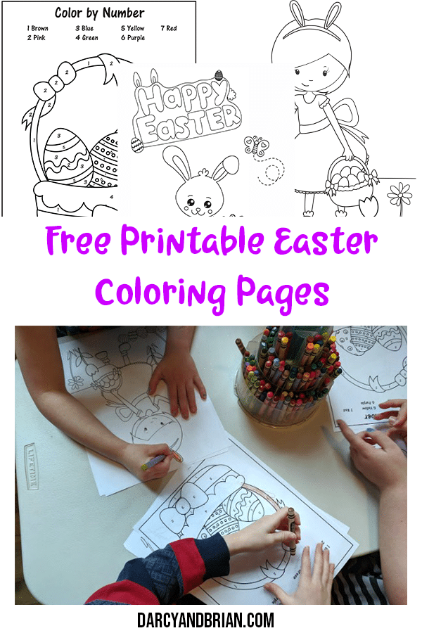 Color By Number Easter Basket Printable