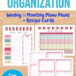 Bundle of Menu Planning Printable Templates