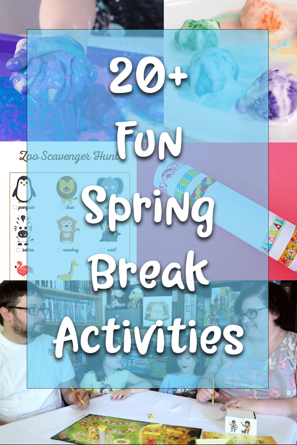 Fun ideas to keep kids busy during spring break photo collage