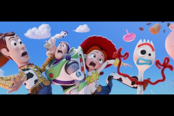 Toy Story 4 Woody, Buzz Lightyear, Jessie, Forky