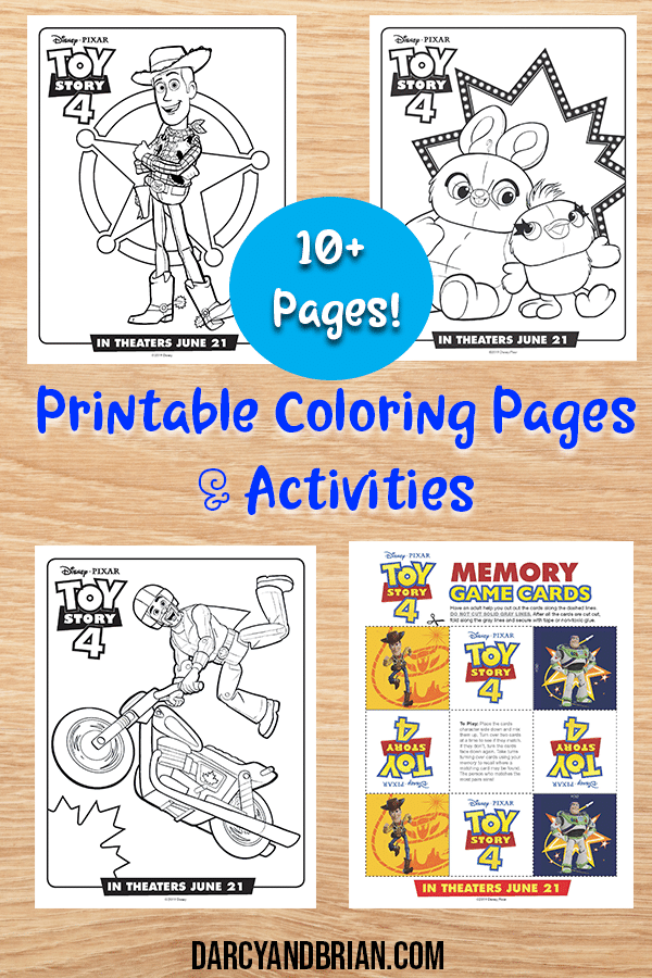 Free Printable Toy Story 4 Coloring Pages and Activities