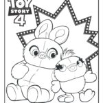 Preview image of Bunny and Ducky Toy Story 4 coloring page