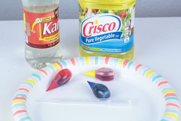 Household supplies for viscosity activity for kids