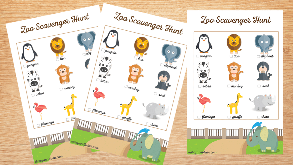 graphic regarding Zoo Scavenger Hunt Printable identified as Absolutely free Printable Zoo Scavenger Hunt
