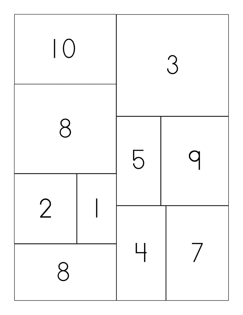 Printable cactus math puzzle answer key