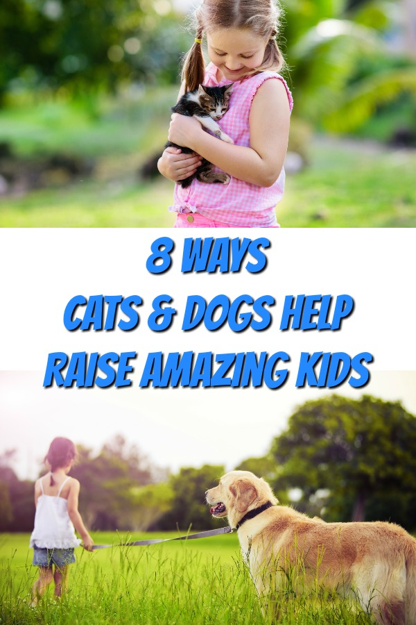Wondering about the benefits of raising your kids with pets? Whether it is helping to improve children's health, assisting them in doing better in school, or perhaps setting the stage for a successful career as an entrepreneur, cats and dogs do these and many other amazing things for our kids. Click to read about 8 ways pets can help raise amazing kids!