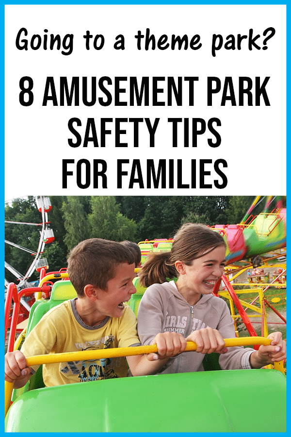 Safety tips for families at amusement parks and theme parks.
