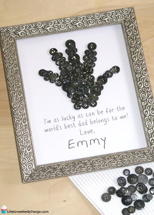 Button Handprint Craft