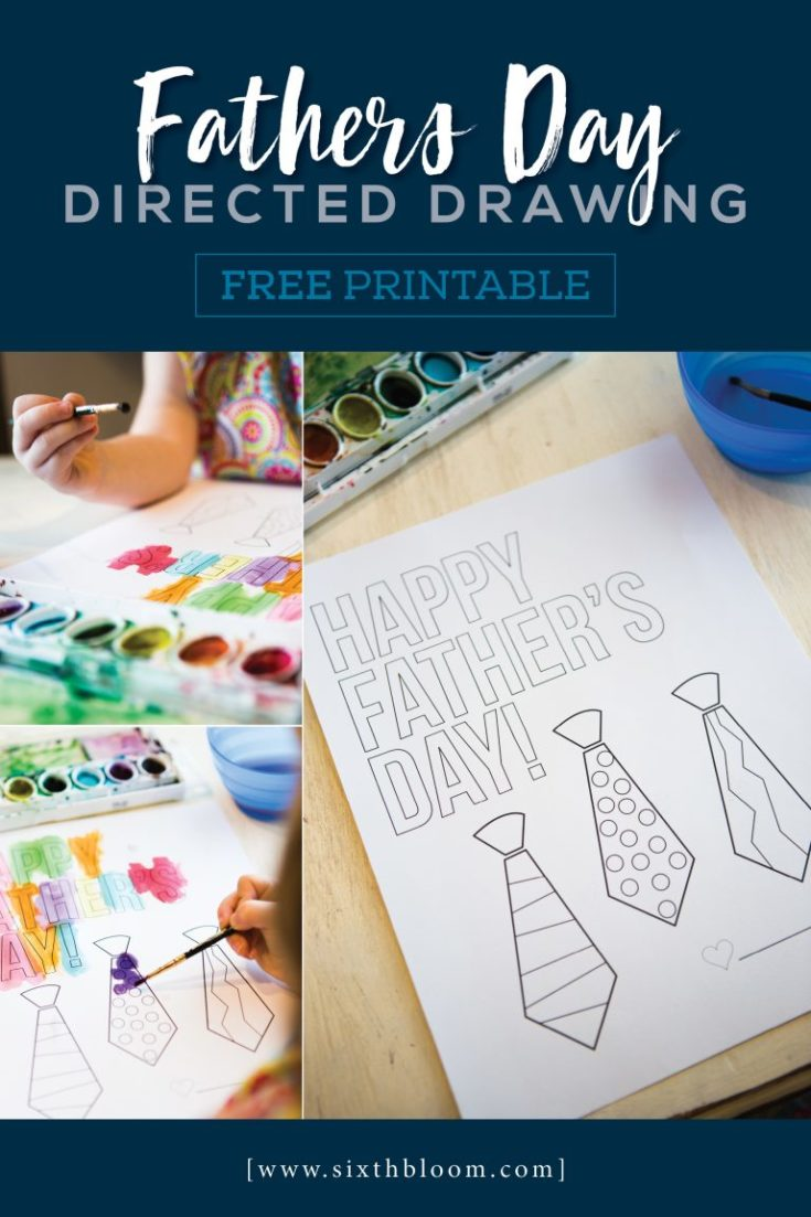 Fathers Day Directed Drawing With Free Printable