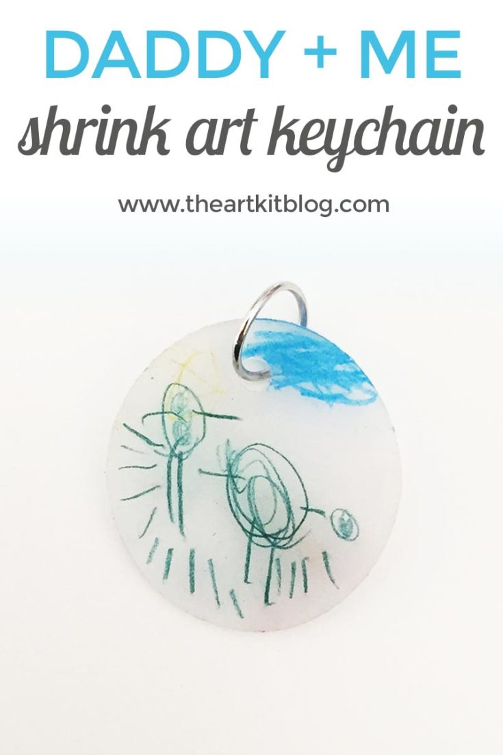 Daddy and Me Shrink Art Keychain