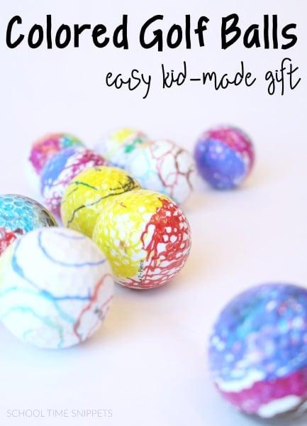 DIY Colored Golf Balls