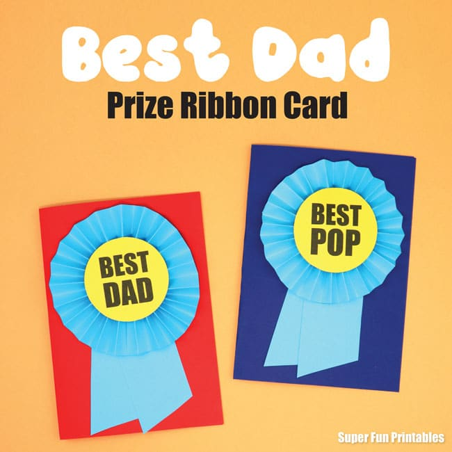 Best Dad Prize Ribbon Card Craft