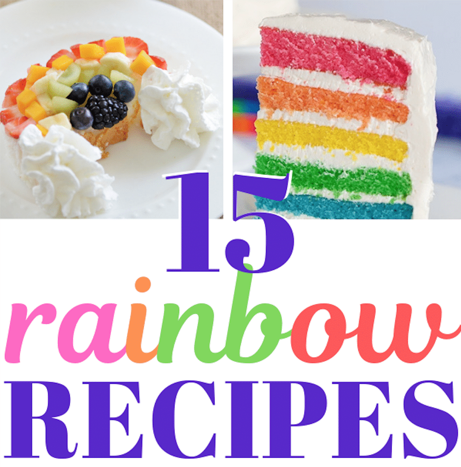 List of 15 rainbow recipes for parties