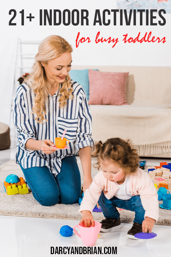 Indoor activity ideas to keep toddlers entertained at home.
