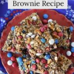 Learn how to make these yummy patriotic pretzel m&m brownies using a box mix.