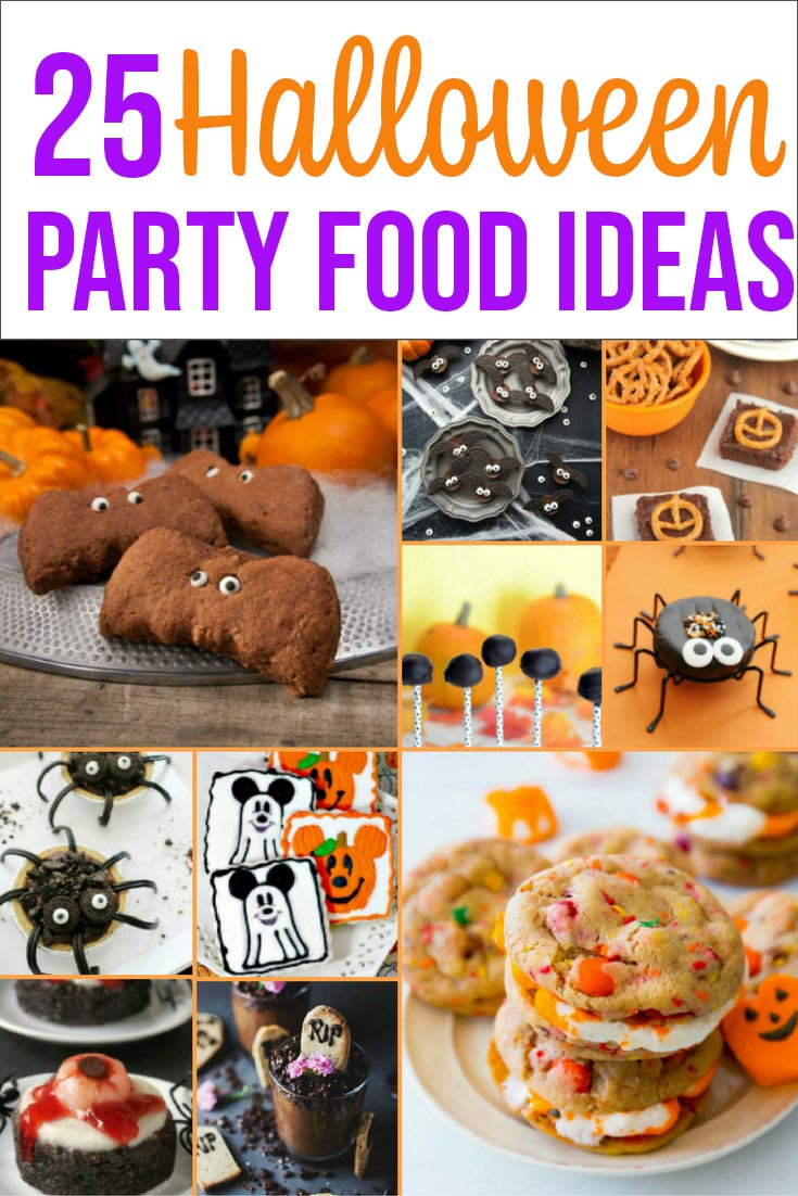 Halloween party food ideas photo collage