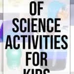 Collage of kids science activities
