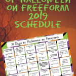 Preview image of printable Halloween movie calendar