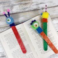 Monster Craft Stick Bookmarks Craft