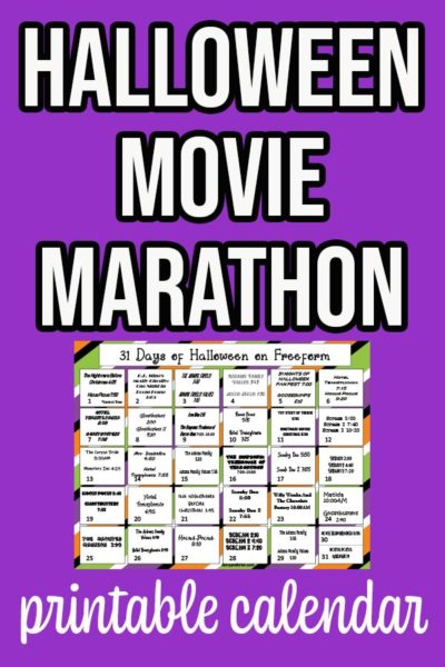 Preview image of Halloween movie calendar