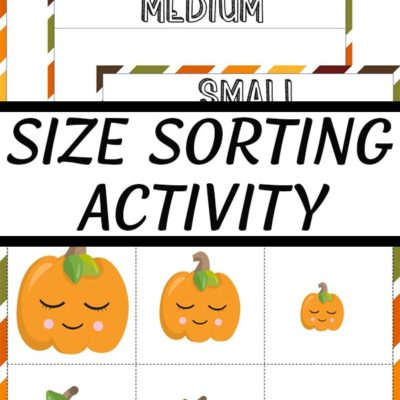 collage of preview images of pumpkin sorting activity printable