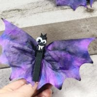 Coffee Filter Bat Craft