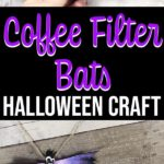 Completed Halloween bat craft