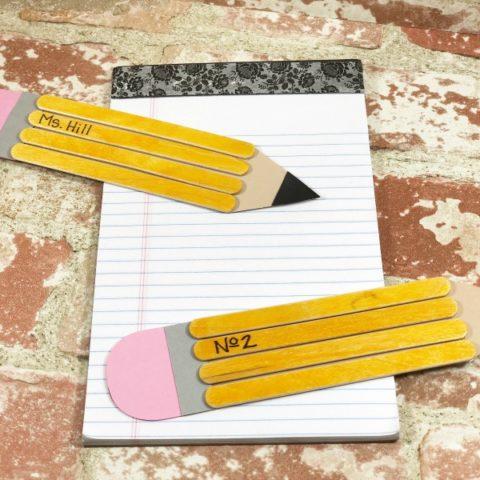 Craft Stick School Pencil Craft