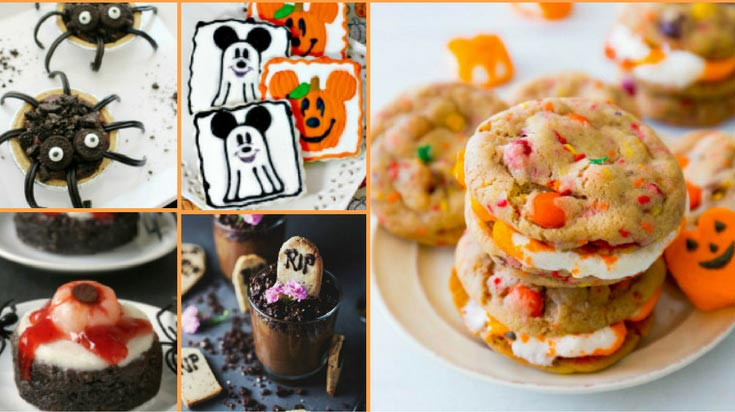 Collage of Halloween cookies and dessert ideas