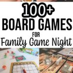 Collage of board games and card games