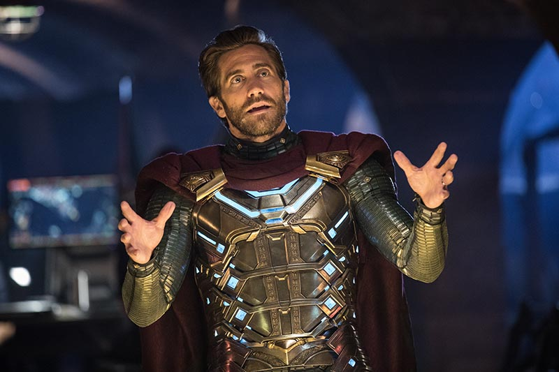 Movie still of Mysterio in Spider Man Far From Home
