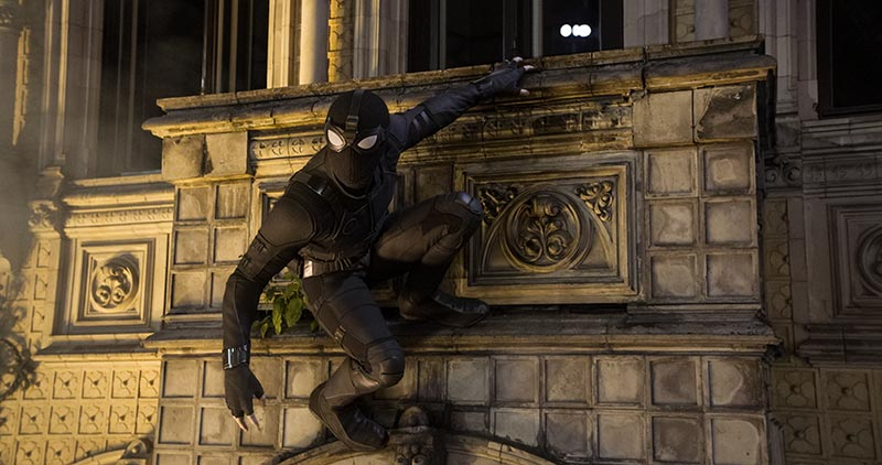 Movie still of Night Monkey on the wall in Spider Man Far From Home