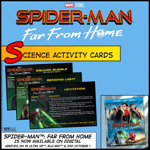 Preview images of the Spider Man science activity cards