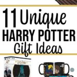 Collage of Harry Potter products with text overlay