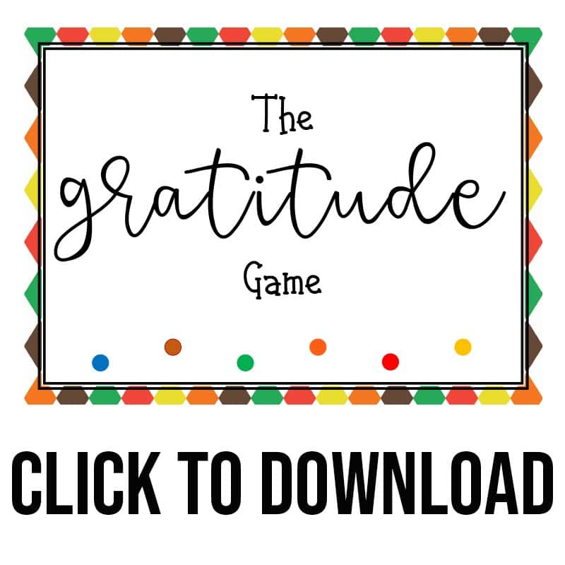 Cover image for gratitude game with text overlay that says click to download.