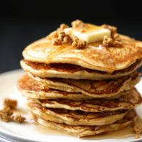 Apple Gingersnap Pancakes