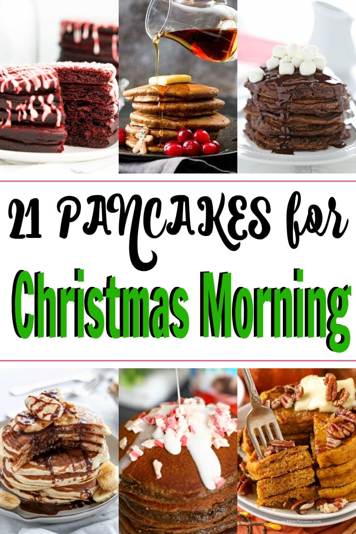 Collage of different pancakes.